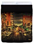Retro College Avenue Duvet Cover