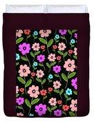 Retro Florals Duvet Cover