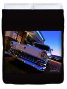 Retro Ford At Bob's Duvet Cover