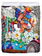 Rex Mardi Gras Parade V Duvet Cover