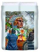 Rex Mardi Gras Parade Vii Duvet Cover