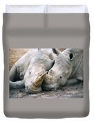 Rhino Love Duvet Cover
