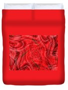 Ribbons Of Red Abstract Duvet Cover