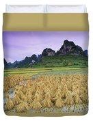 Rice, Yangshuo, Guangxi, China Duvet Cover
