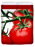 Rich Red Tomatoes Duvet Cover