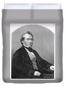 Richard Cobden (1804-1865). /nenglish Politician And Economist. Steel Engraving, English, 19th Century Duvet Cover