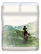 Ride The Rockies Duvet Cover