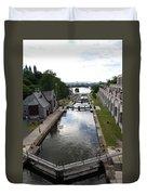 Rideau Canal And Locks - Ottawa Duvet Cover