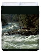Riding The River Duvet Cover