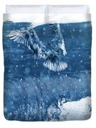 Riding The Wave The Gull Duvet Cover
