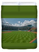 Right To Left At Oriole Park Duvet Cover