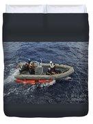Rigid-hull Inflatable Boat Operators Duvet Cover