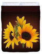 Ring Of Sunflowers Duvet Cover