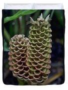 Ringed Flowers Duvet Cover