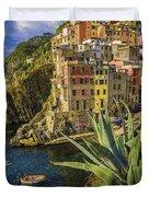 Rio Maggiore Cinque Terre Italy Duvet Cover