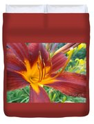 Ripe Blood Orange Duvet Cover by Trish Hale
