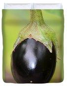 Ripened Eggplant Duvet Cover