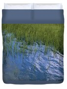 Rippling Water Among Aquatic Grasses Duvet Cover