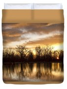 Rising Sun At Crane Hollow Duvet Cover