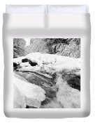 River And Snow II Duvet Cover