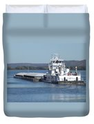 River Barge Duvet Cover