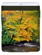 River Camcor In The Fall  Co Offaly Duvet Cover