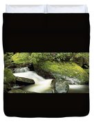 River Flowing Through A Forest, Torc Duvet Cover