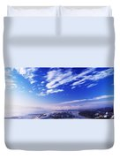 River Foyle, Co Derry, Northern Ireland Duvet Cover
