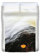 River In Fall Duvet Cover