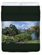 River In Front Of A Castle, Johnstown Duvet Cover