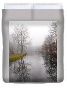 River In The Fog Duvet Cover