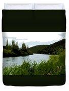 River Landscape Scene Duvet Cover
