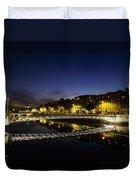 River Liffey, Millenium Footbridge At Duvet Cover by The Irish Image Collection