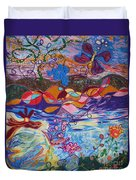 River Of Life Duvet Cover by Heather Hennick