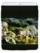 River Rocks 3 Duvet Cover