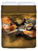 River Rocks Duvet Cover