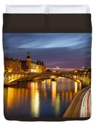River Seine And The Concierge Duvet Cover