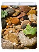 River Stones Duvet Cover by Steve Gadomski