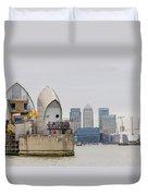 River Thames Landscape Duvet Cover