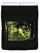 River Through The Trees Duvet Cover