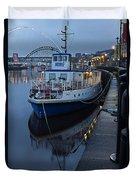 River Tyne Cruise Ship Duvet Cover