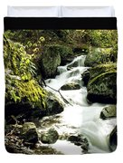 River With Rocks In The Forest Duvet Cover