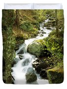River With Trees In The Forest Duvet Cover