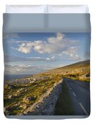 Road Along The Burren Coastline Region Duvet Cover