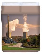 Road And Nuclear Plant.  Kentucky Duvet Cover
