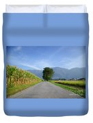 Road And Trees Duvet Cover