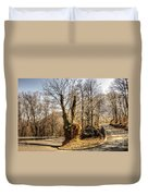 Road Curve With Trees Duvet Cover