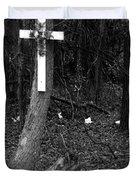 Road Death Cross- La Hwy 15 Duvet Cover