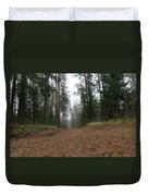 Road In A Pine Grove Duvet Cover