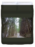 Road In The Forest Duvet Cover